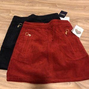 Courdoroy mini skirts | 2-pack